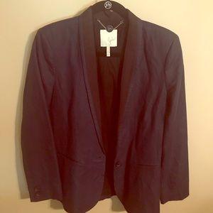 Joie two-tone tuxedo-style blazer
